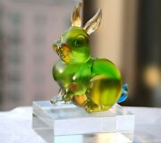 Glass Rabbit Ornaments Cute Small Animals Living Room Wine Cabinet Office Table