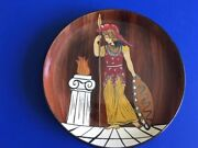 Vintage Antique Greek Warrior Classical Decorative Pottery Wall Plate 7.25andrdquo