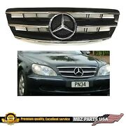2003 2004 2005 2006 S-class Black Grille Amg Emblem Star Badge S430 S500 S55 New