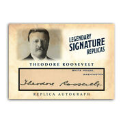 Theodore Teddy Roosevelt Aceo Autograph Replica Presidential Signature Card