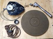 Antique Turntable For Tube Radio Console - Astatic 507 - Needle Cup - Flocked