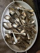 Antique And Vintage Silverplate Mix Lot Forks And Spoons 100 Craft Pieces