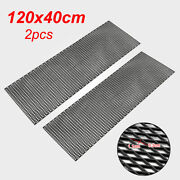 47 X 16 Inch Abs Plastic Racing Car Auto Front Bumper Grille Grill Diamond Mesh