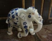 Marble Elephant Wild Figurine Collectible Home Inlay Gifts Arts