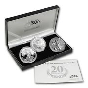 2006 Proof Silver American Eagle 3-coin Set In Ogp.