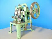 Vintage .35mm Cable Link Chain Making Machine W/ Extra Tooling