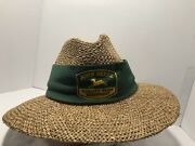 John Deere Straw Golferand039s Hat Cary Francis Group With Green Band