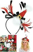 Santa Hat Bow And Feather Fashion Headband, 11 X 8 - New Hot Release