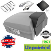 Advanblack Unpainted Chopped Tour Pack Trunk Luggage For Harley Touring 97-20