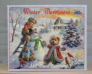 White Mountain Puzzles- Winter Merriment By Nicky Boehme 550 Piece Puzzle New