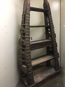 Large East India Co. - Thai Style Bookcase Made Of Wood And Ox Cart Metal