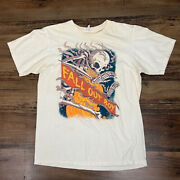 Anvil Fall Out Boy Save Rock And Roll Arena Tour 2013 Skeleton Fire Tan M Shirt