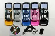 Texas Instruments Ti-84 Plus C Silver Edition Pink Blue Graphing Calculator Ti84