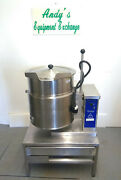 Welbilt/ Cleveland Tilting Kettle 12 Gal Ket-12t 480v With Stand St-28 And Lid