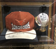 Augie Garrido And Texas Longhorns Team Signed Hat And Baseball