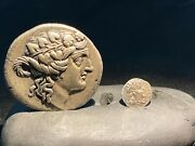 Ancient Greek Silver Coins From Central Asian From Ancient Greek Empire