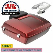 Hard Candy Hot Rod Red Flake Chopped Tour Pack For 97+ Harley Flhr Flhxs Fltrx