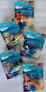 Disney Finding Nemo Action Figures Toys Nemo Marlin Dory Squirt Bruce Set/5-new