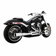 Vance And Hines Chrome Pro Pipe 2-1 Exhaust Full System Harley Softail Fat Boy