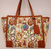 Nwt Disney Belle Beauty And The Beast Dooney And Bourke Shopper Tote Purse Bag 2