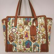 Nwt Disney Belle Beauty And The Beast Dooney And Bourke Shopper Tote Purse Bag 4