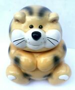 Adorable Hand Painted Cat Kitty Ceramic Treat/cookie Jar 10 Tall