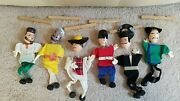 Vintage Creative Playthings Folk Marionettes Of All Nations 6 String Puppets