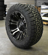 20x10 Fuel D569 Vapor Black Wheels 33 Amp At Tires 6x135 Ford F150 Expedition