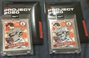 Mike Trout Topps Project 2020 Silver 1/2 And 2/2 Td 2011 Trout Jamieson Rare Pair