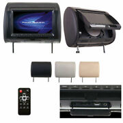 Power Acoustik 9 Headrest Monitor 3-color Skins Lcd/dvd Usb/sd Sold Each