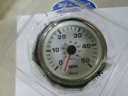 Faria White Sst 50 Mph Boat Or Pontoon Electric Speedometerspeedo Gaugese0580a