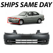 New Primered - Front Bumper Cover For 2003-2006 Hyundai Accent Sedan/hatch 03-06