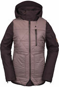2021 Nwt Womens Volcom Vault 4-in-1 Jacket 300 S Black Red 2 Layer Vs10 Fit