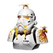 Zcwo Hive B-006h Star Wars Stormtrooper Vinyl H16inch Collection Figure