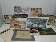 Huge Lot Of Ephemera Picture Stickers Hudson Note Pad And More Must See