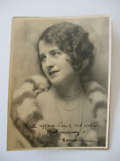 Norma Shearer Super Rare 1924 Autographed Photo And Envelope W/1923 Franklin Stamp