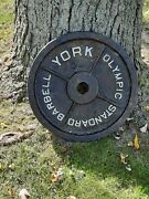 2 Lot Used Vintage York 45 Lb Standard Olympic Weight Plates 90 Pounds Total