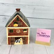 Block By Gear 1995 Country Village Animal Large Barn Ceramic Lidded Canister Jar