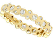 Vintage Diamond And 18k Yellow Gold Full Eternity Ring