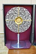 Nice Antique Contemporary Monstrance W/ Luna And Case Cu323 Chalice Co.