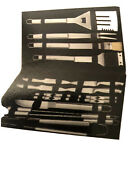 Sharper Image 22 Piece Grill Set Stainless Steele New Gift Christmas Menandrsquos