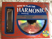 David Harp How To Play The Harmonica Book And Kit W/cd Brand New In Package