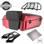 Velocity Red Sunglo Chopped Tour Pack For 97+ Harley Street Road Electra Glide