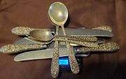Stieff Rose Flatware Sterling Silver 495.5 G Total Weight See Photos Lot X294