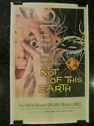 Not Of This Earth Original 1957 Movie Poster 27 X 41.5 C8.5 V Fine/near Mint