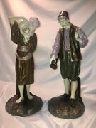 Royal Worcester Pr Porcelain Statues Middle East Water Bearer James Hadley 1884