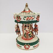 Santa Claus Is Coming To Town Carousel - Musical - Reindeer - Christmas