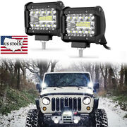 4and039and039 Inch 60w Pods Led Work Light Off Road 4wd Atv Boat Suv Ute For Ford Gmc Jeep