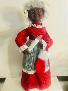 African American Mrs Claus Motionette Christmas Animated Lighted Figurine 24