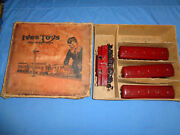 Ives Standard Gauge Set 701r With 3241 Electric Loco And 184 185 And 186